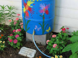 capturing water for garden use is good idea