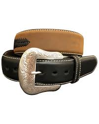 zoomed image g bar d men s brown laced distressed leather belt brown hi