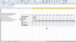Simple Cash Flows Spreadsheet Simple Cash Flow Statement