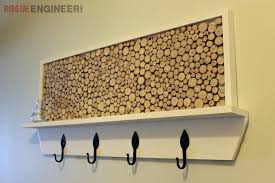 How To Build A Coat Rack Shelf Delectable DIY Coat Rack Plans With Feature Area Rogue Engineer