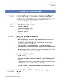 Resume Volunteer resume for volunteer work sample Fieldstation Aceeducation 1