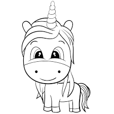 Disegni Kawaii Unicorno Da Colorare