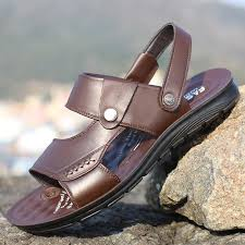 <b>Sandals Men</b> Spring <b>Summer Fashion Cool</b> Leather <b>Slippers</b> Casual ...