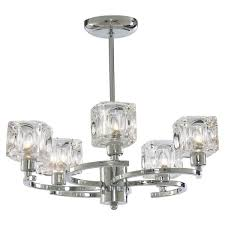 ice cube twist 5 light polished chrome ceiling light