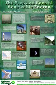 Wind Power Pros And Cons Chart Pros And Cons Of Renewable Energy Great For Generating A