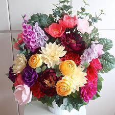 Tissue Paper Flower Centerpieces Crepe Paper Flower Arrangement Paper Flowers Diy Paper
