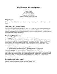 Retail Resume Sample Retail On Resume Retail Resume Sample Resume Templates Retail 2