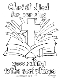 Coloring Pages For Kids By Mr Adron 1 Corinthians 15 3 Print And