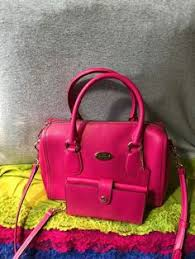 Handbag Coach Fuchsia Leather Zip Shoulder Bag Satchel   Snap Phone  CaseWristlet  Coach  CrossbodySatchelShoulderBagWristlet