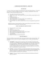 Resume Guidelines The Best