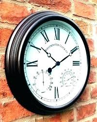 large outdoor wall clocks large outdoor clocks outdoor decorative clocks outdoor clocks large outdoor wall clocks with temperature