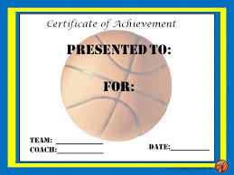 Free Basketball Certificate Templates Image Collections Creative