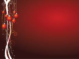 Xmas Theme Powerpoint Templates Christmas Red Free Ppt