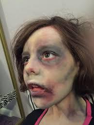 zombie child face paint make up facebook com facepaintingbymarli