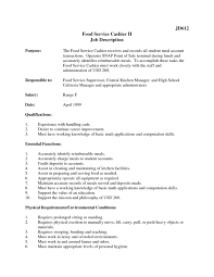 Skills For Resume Cashier Free Resume Example And Writing Download