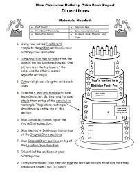 Birthday Guest Book Template Birthday Cake Book Report Project Templates Worksheets