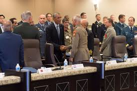 file u s president barack obama meets military leaders from file u s president barack obama meets military leaders from 22 nations to discuss strategy
