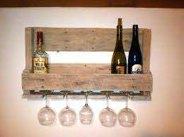 full size of diy wooden wine bottle and glass holder wood rack cabinet very simple wall