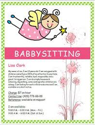 Babysitting Flyer Template Microsoft Word Free Babysitting Flyers And Ideas 16 Free Templates Hloom