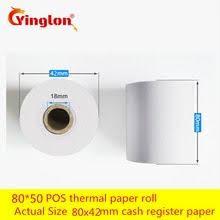 80 50 12Rolls/lot Thermal Printer Cash Register Paper POS Free ...