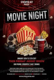 Free Flier Template Movie Night Free Flyer Template Download Flyer Templates