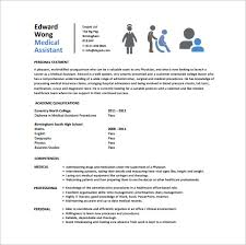 Medical Resume Template Magnificent 28 Medical Assistant Resume Templates DOC Excel PDF Free