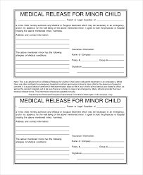 Printable Medical Release Form For Children Delectable Emergency Medical Form Template Kenicandlecomfortzone