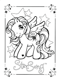 Coloring Pages Of Ponies My Little Ponies Ng Pages Pony Friendship