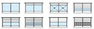 Nuevo Tipo De Aluminio Escalera Barandillas  Barandillas Para Barandillas De Aluminio Para Exterior
