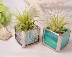 office decorative accessories. Office, Stained Glass Box Planters Square Carving Pod Cube Blue Plant Vase Lime Office Decorative Accessories