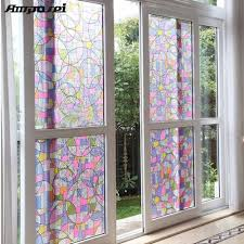 45x200cm privacy textured static cling stained glass window home decor uv anti glass window sticker ff