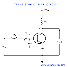 transistor clipping circuit working circuit diagram waveforms transistor clipping circuits