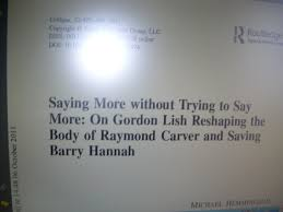raymond carver essay raymond carver chris hill thesis introduction  gordon lish hemmingsonspace categories raymond carver cathedral essay