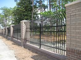 metal fence styles. Black Steel Fence - Curved Metal Styles I