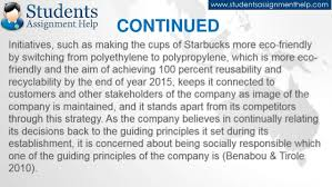 essay on starbucks csr practices continued 9