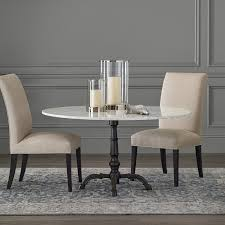 la coupole round iron bistro table with marble top