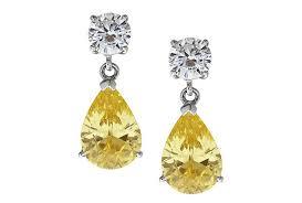 lady love yellow earrings