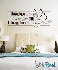 Love Wall Quotes Impressive Vinyl Wall Decal Sticker Love Quotes BHuey48s stickerbrand on ArtFire