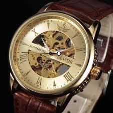 buy casual fashion men s watches men luxury brand skeleton dial casual fashion men s watches men luxury brand skeleton dial leather strap mechanical watch vintage reloj dress