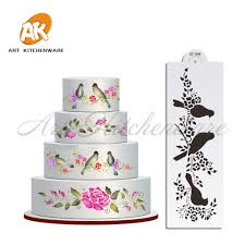 Cake Decorating Accessories Wholesale Wholesale Wedding Cake Stencil Lovely Birds Kitchen Accessories 7