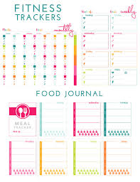 Diet And Exercise Journal Printable Printable Fitness Trackers And Food Journal The Homes I