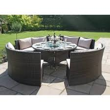 garden table and chairs for sale in leeds. maze rattan dallas brown 8 seat sofa set. loz_exclusively_online garden table and chairs for sale in leeds