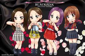 Drawing anime characters can seem overwhelming, especially. Sehunxjisoo Fanart Collections Blackpink Chibi Blackpink Cartoon Blackpink Cartoon Cute