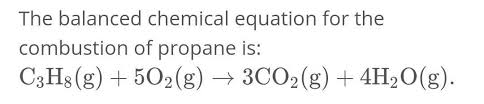 an balanced equation of combustion