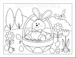 Easter Egg Basket Printable Coloring Pages For Adults Preschool Free