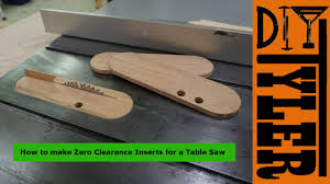table inserts. make zero clearance inserts with a splitter for the table saw -- 030 - youtube