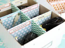 Keep cords organized.