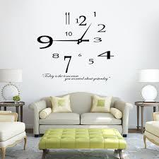 beautiful design clock wall decor removable modern sticker home decoration living room vinyl stickers decals e