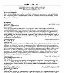 Medical Coding Resume Medical Coding Specialist Resume Sample Livecareer