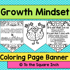 Growth Mindset Coloring Banner By Katembee Teaching Resources